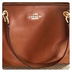 Coach Signature Ava Armor Tote Leather Shoulder